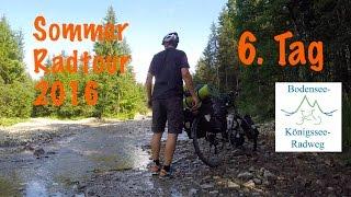 6. Tag Sommerradtour 2016 - Unterwegs auf dem Bodensee-Königssee-Radweg
