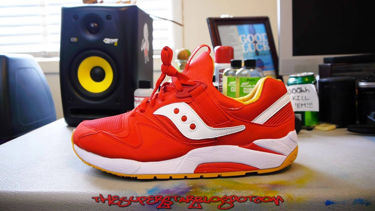 45abfc10 Saucony - Grid 9000 - Red / Yellow / White - YouTube