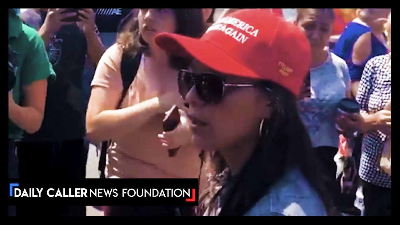 DC Shorts El Paso MAGA Hat Wearer Surrounded By Angry Crowd
