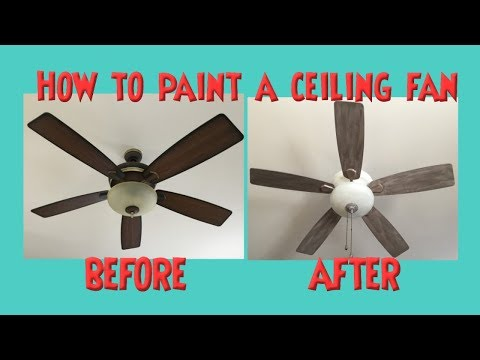 Ceiling Fan Makeover Distressed Chalk Or Latex Paint *No Sanding  #ceilingfanmakeover