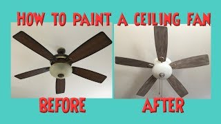 Ceiling Fan Makeover Distressed Chalk or Latex Paint *No Sanding *How to Paint a Ceiling Fan