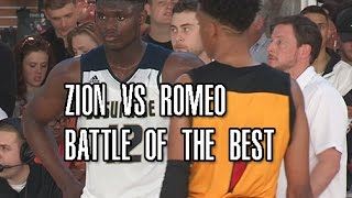 Zion Williamson vs Romeo Langford! Battle Of The Best At Adidas Uprising Full Highlights