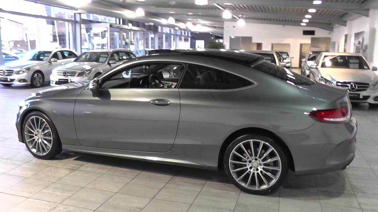 mercedes benz c class coupe 2015 c 200 amg line coupe u44599 youtube. Black Bedroom Furniture Sets. Home Design Ideas