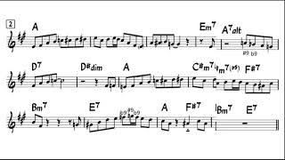 색소폰 재즈 블루스 - C blues 릭 연습(A 블루…