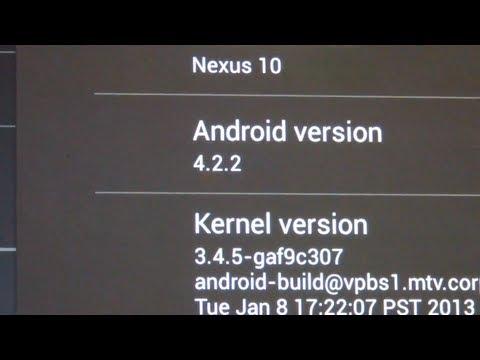 Como Actualizar manualmente a la version Android 4.2.2 en la Nexus 10