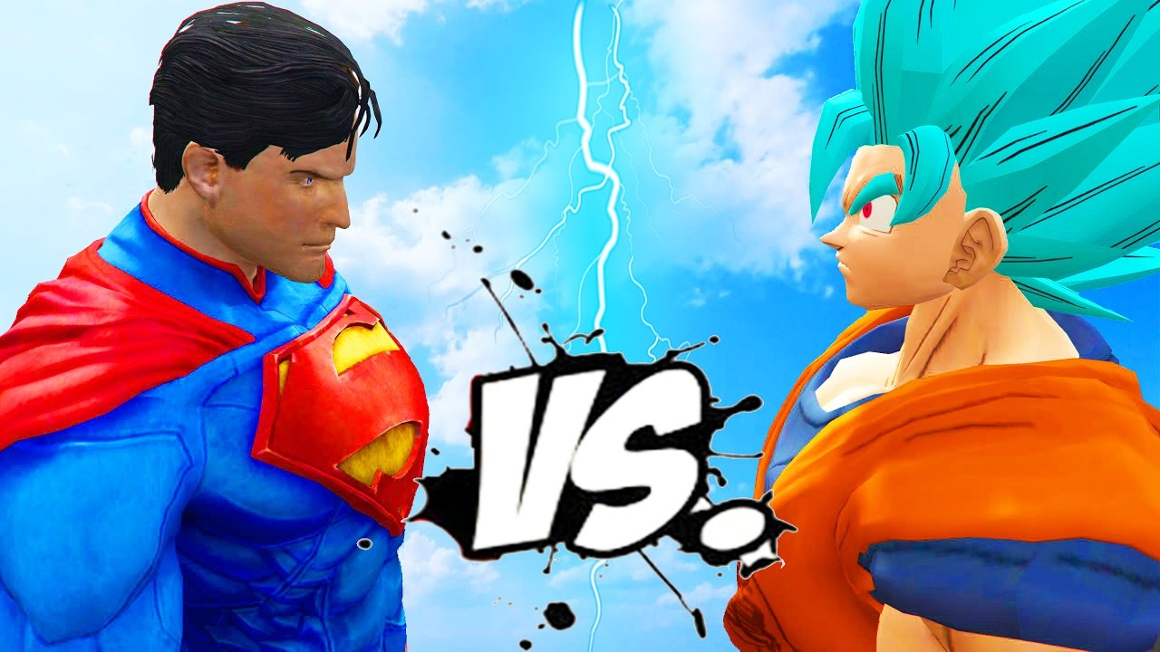 Goku Vs Superman Epic Battle Youtube