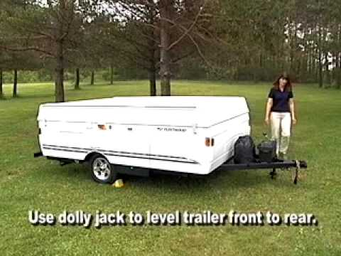 Fleetwood Folding Camper Set Up - YouTube