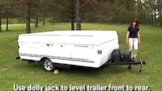 Fleetwood Folding Camper Set Up