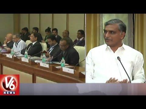 Harish Rao Addressing Media After Meeting | Interlinking Of Rivers | V6 News