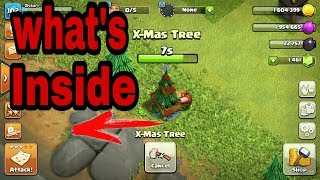 X-MAS Tree .. What's inside it. Clash of clans ( In hindi ) Game gods