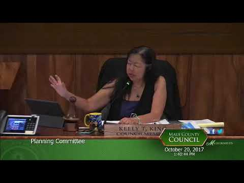 Maui County Planning Committee meeting 20 Oct 2017