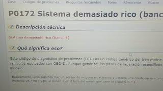 Codigos P0172 P0175