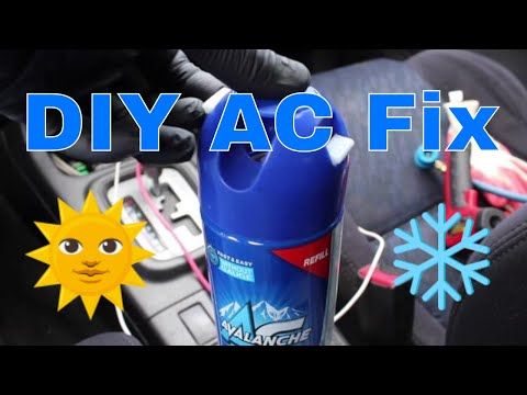 Subaru AC air conditioner recharge refill automobile o-rings troubleshooting car AC how -to DIY