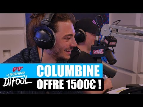 Youtube: Columbine offre 1500€ à un auditeur! #MorningDeDifool
