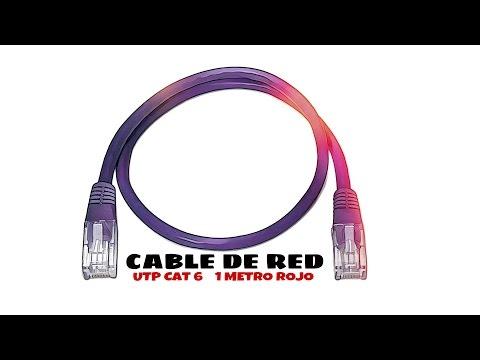 Video de Cable de red UTP CAT6 1 M Rojo