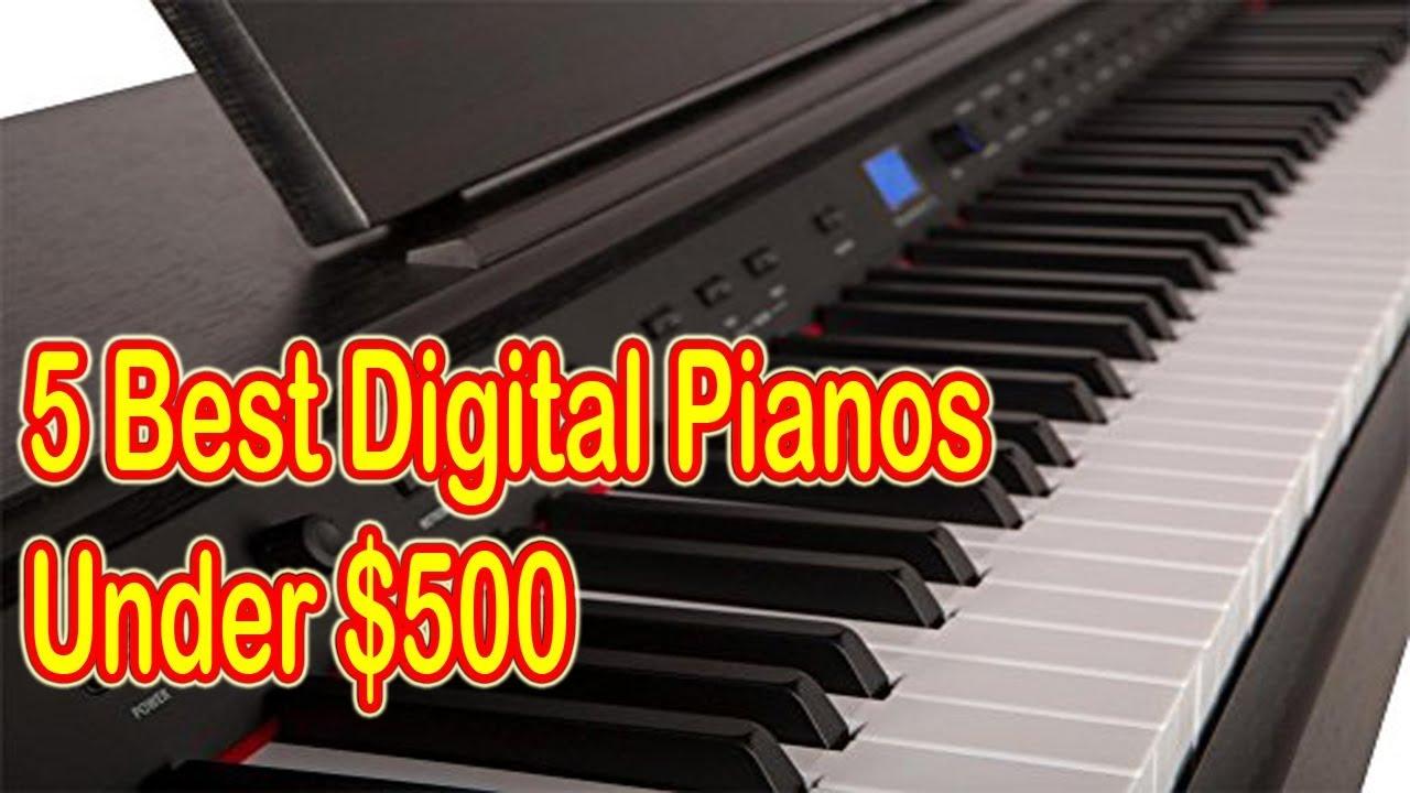 top 5 best digital pianos under 500 for beginners 2018 youtube. Black Bedroom Furniture Sets. Home Design Ideas