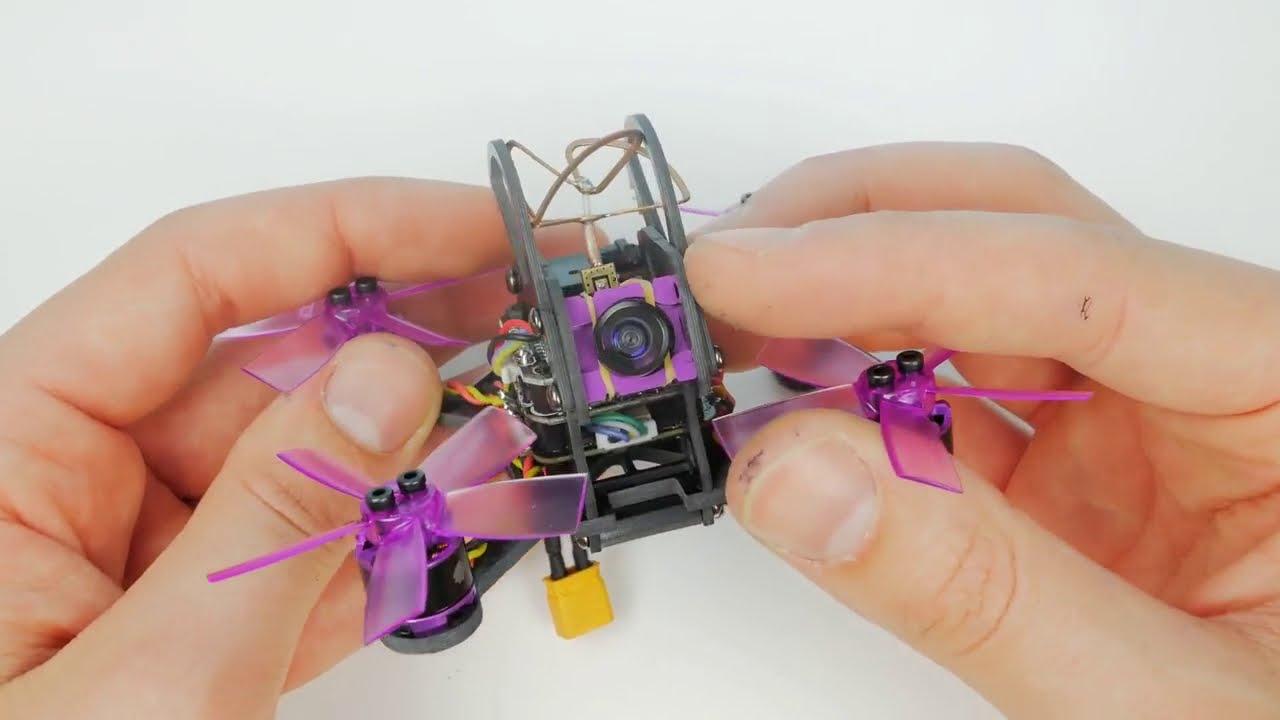 Вваливающий квадрокоптер с камерой / Eachine Lizard 95. Микро Гоночный FPV квадрокоптер. картинки