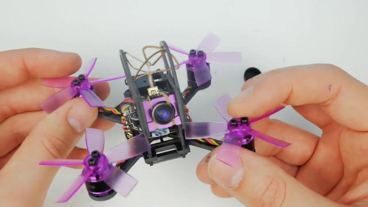 Вваливающий квадрокоптер с камерой / Eachine Lizard 95. Микро Гоночный FPV квадрокоптер. фото