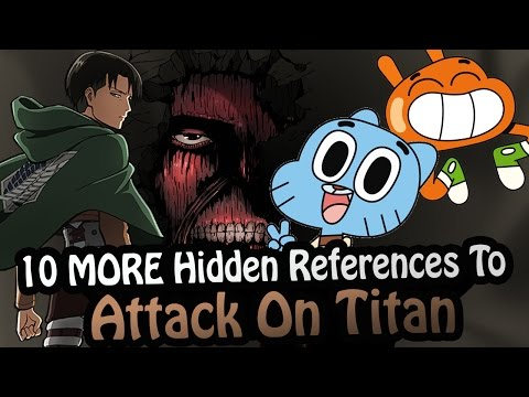 10 MORE References To Attack On Titan Hidden In Other Works! (Shingeki No Kyojin)