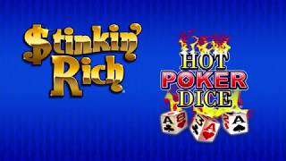 Hot Poker Dice® Stinkin' Rich® Video Slots by IGT - Game Play Video