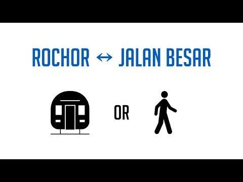 Downtown Line - Rochor to Jalan Besar: MRT or Walk?