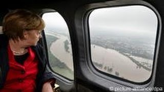 German Chancellor Visits Flooded Areas | People & Politics