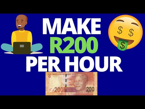 Make R200 Per Hour   Make Money Online In South Africa