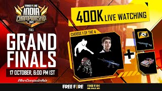 [HINDI] Free Fire India Championship 2021 Fall Grand Finals | FFIC 2021 Fall