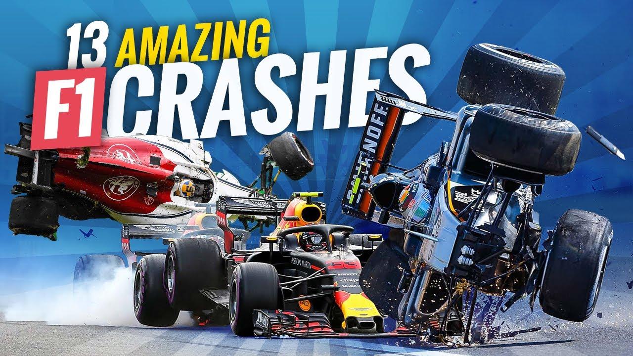 13 Amazing F1 crashes by F1 Photographer Mr. Crash