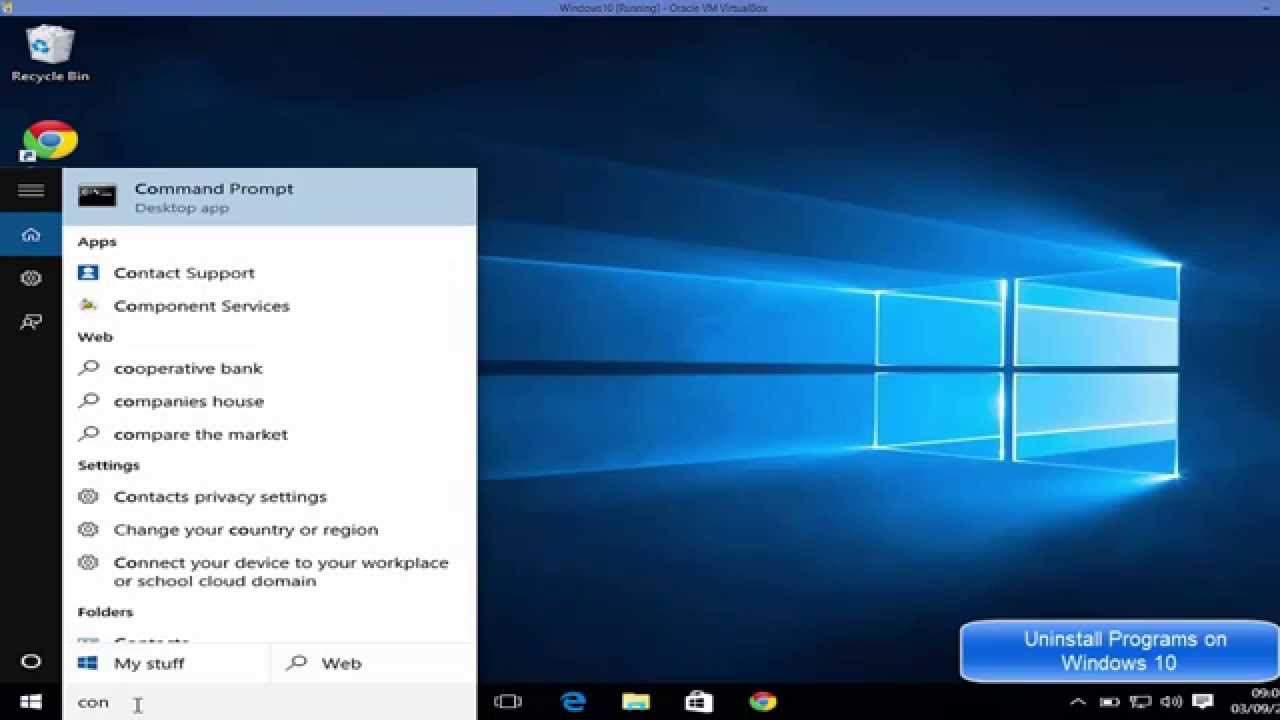 Remove windows 10 apps command line