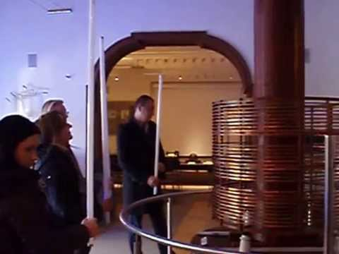 Rare footage - Tesla coil at work in the Nikola Tesla museum