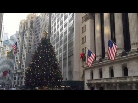 New York Stock Exchange Christmas Tree    2015