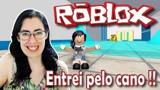 Roblox com Facecam-entrei pelo cano (fuja do ginásio!)