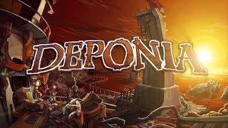 Бородатые прохождение игры Deponia на стриме (И чуток CupHead)