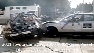 2001 Toyota Camry Vs. 2000 Volkswagen Passat 90° Side Crash Test (ECE 96/27/EC - 50 Km/h)