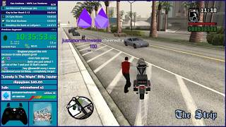 GTA San Andreas 100% LV Speedrun Practice - Hugo_One Twitch Stream - 7/12/2018