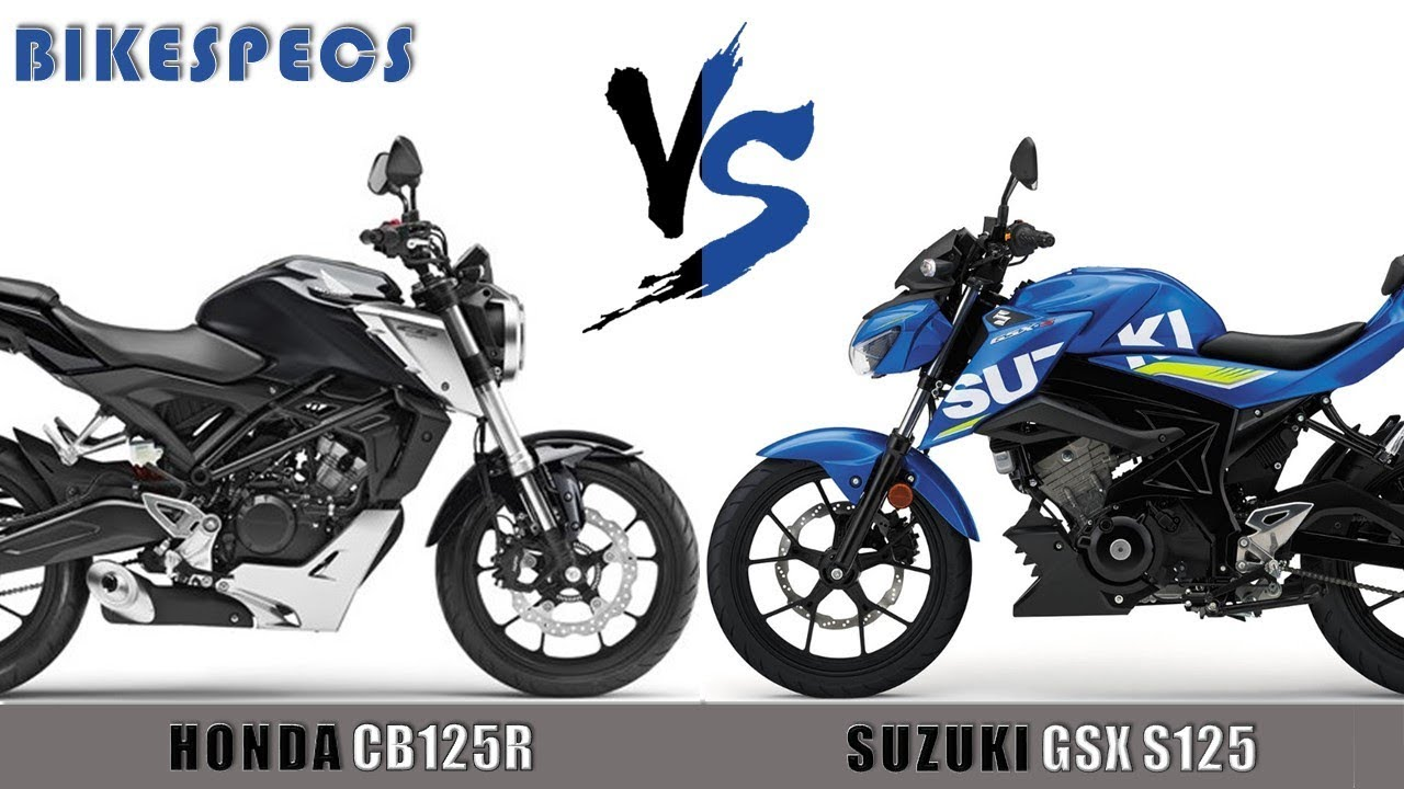 honda cb125r vs suzuki gsx s125 ll 2018 youtube. Black Bedroom Furniture Sets. Home Design Ideas