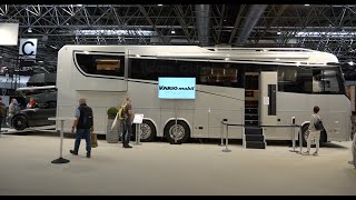 Most expensive RV in Europe: € 1.45 mio. Variomobil Perfect 1200 Platinum. 3 slideouts! Actros 2021.