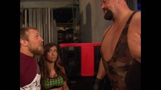 Friday Night SmackDown - Daniel Bryan walks in on a conversation between Big Show and AJ