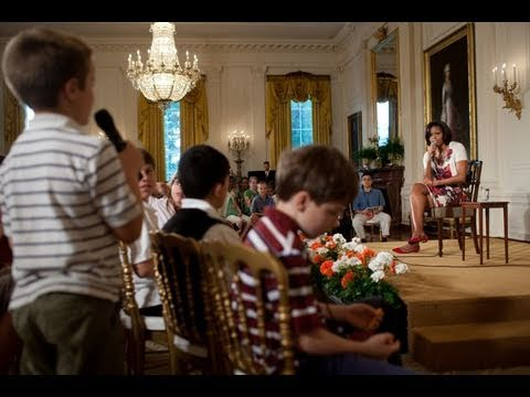 First Lady Michelle Obama at Take Your Child to Work Day