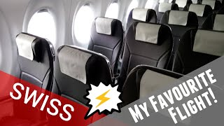 THE MOST BEAUTIFUL FLIGHT | Swiss A220 Economy Review | LHR - GVA