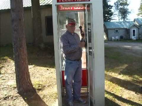 a real working old fashioned telephone booth