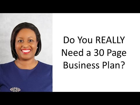 Do You Really Need 30 Page Business Plan? - Youtube