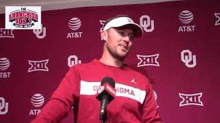 Oklahoma coach Lincoln Riley Army postgame press conference