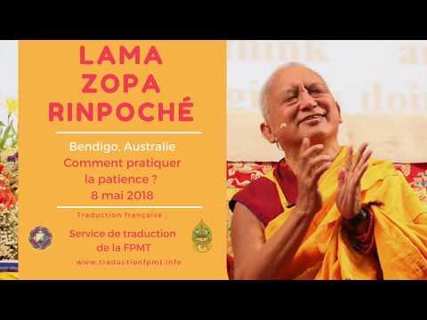 Comment pratiquer la patience ? Lama Zopa Rinpoché