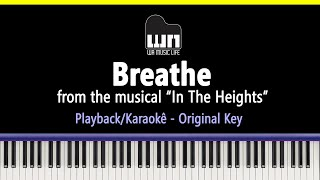 Breathe (In the Heights) - Piano playback for Cover / Karaoke