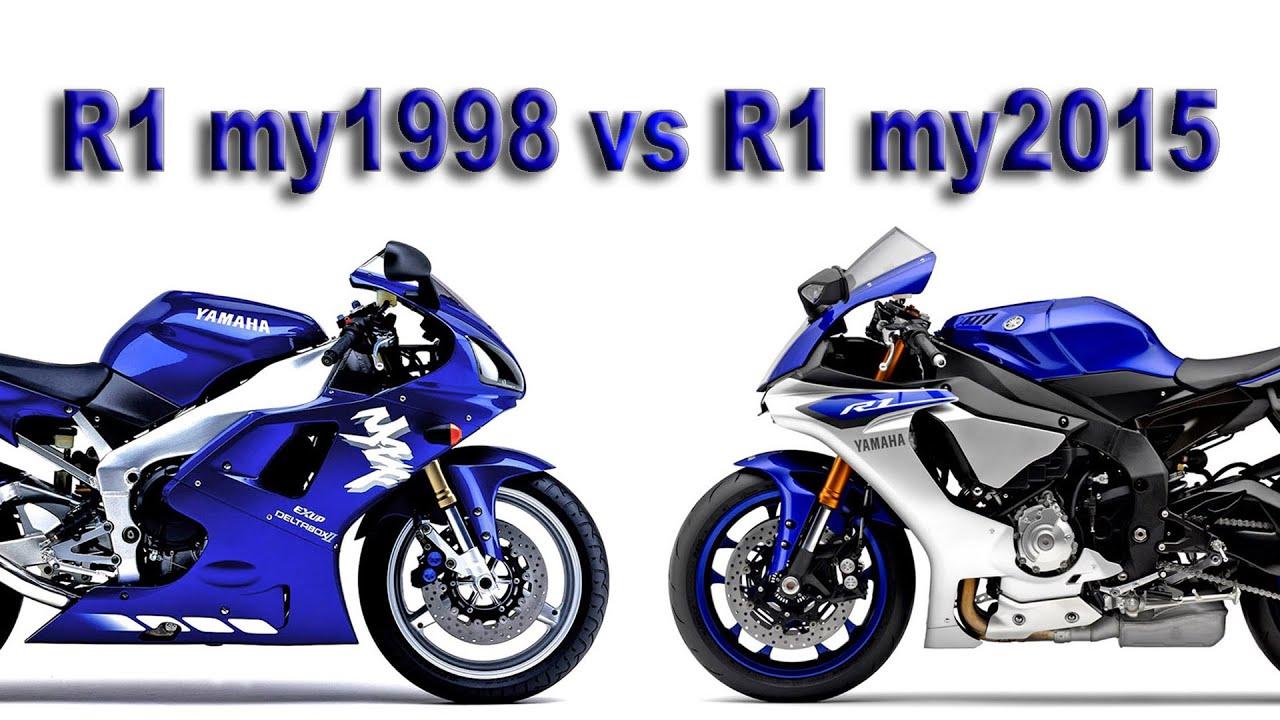 1998 R1 >> Yamaha R1 1998 Vs R1 2015 Imola Youtube