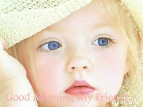 Cute babies good morning video