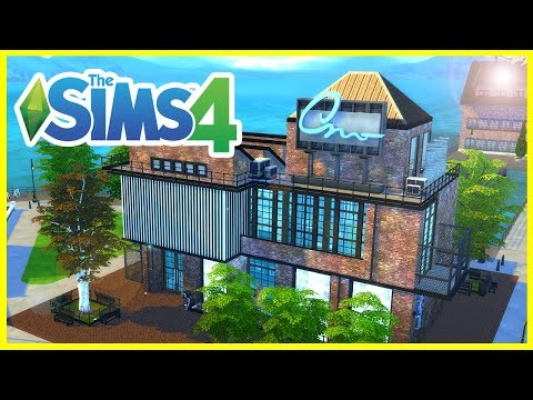 INDUSTRIAL ART GALLERY & MASSIVE STUDIO APARTMENT | The Sims