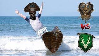 Tomb Kings vs Wood Elves | SURFING SNAKE DUDES - Total War Warhammer 2